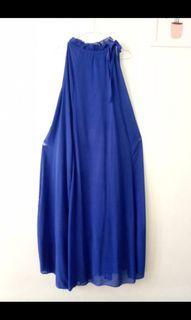 Longdress No Slevees Electric Blue #Preloved