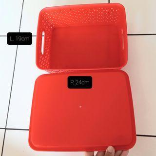 Multipurpose Plastic Box Merah