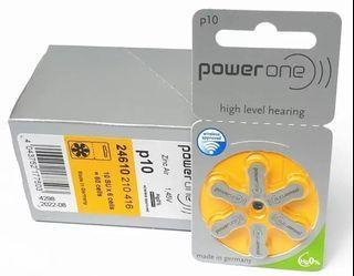德國p10助聽器電池高級聽力專用    Power One high level hearing batteries