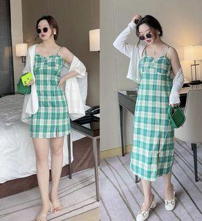 Plus Size Checkered Dress in long or short style