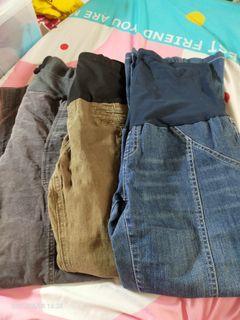 專櫃孕婦褲S三件