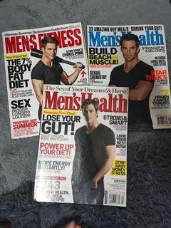 Set - Chris Pine Magazines ( Men's Health / Men's Fitness )