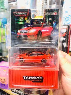 本月新車!Tarmac Works 1:64 Mercedes-Benz C63 Coupe AMG Black Series (紅色)