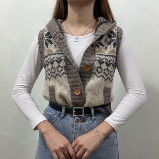 Vest Top Jacket with Hood