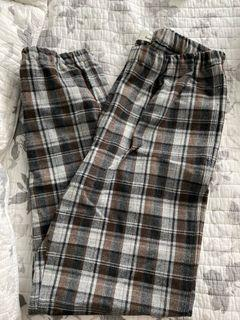 WILFRED FREE plaid joggers size small!
