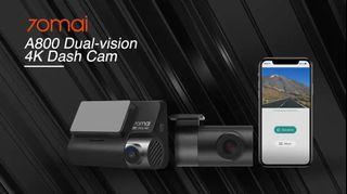 Xiaomi 70mai 4k A800 A500s front rear car camera