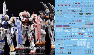 [Yan] HGUC RX-78 G 4 / 5 / 6  Gundam Waterslide Decal 1/144 Ghost Custom Design