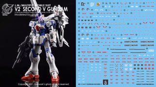 [Yan] HGUC V Dash / V 2nd Second Gundam Waterslide Decal 1/144 Ghost Custom Design