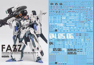[Yan] MG FAZZ Ver Ka Gundam Waterslide Decal 1/100 Ghost Custom Design