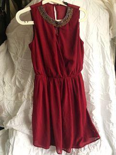 ZARA 細緻優雅 精緻珠飾洋裝