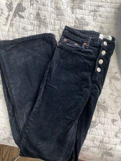 ZARA corduroy flare pants size US 6