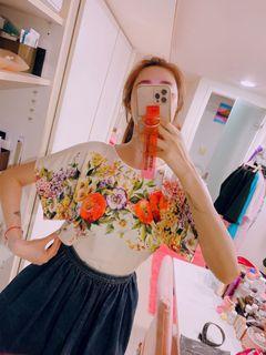 台北101購入_D&G絲質花園上衣