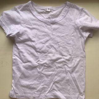 購物滿$20免費送出 free 返學白色短袖底衫小童兒童男童  size120
