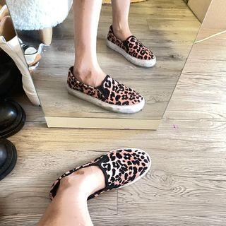 二手❤️38號歐美品牌Dorothy Perkins 粉色豹紋帆布鞋