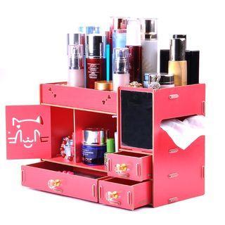66 三色可選 大 DIY 化妝收納盒 木質收納盒
