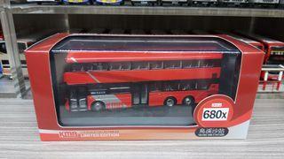 80M 巴士模型 九巴 KMB Volvo B8L Wright Gemini 3 Euro VI 12m 680X(鳥溪沙站) 1/76