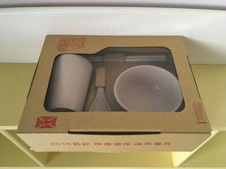 全新 無毒環保餐具盒組-倫敦餐具
