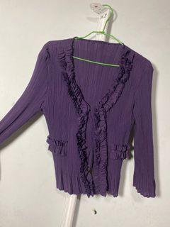 很漂亮的紫色小外套 彈性好