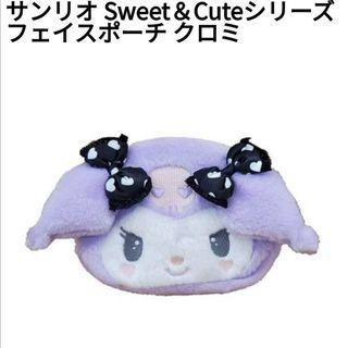 萌貓小店 日本直送-日本Kuromi 系列化妝包 サンリオ Sweet&Cuteシリーズ フェイスポーチ クロミ