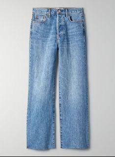Aritzia Denim Forum Farrah High Rise Wide Leg Jeans - My Bleu L'Amour - Size 25
