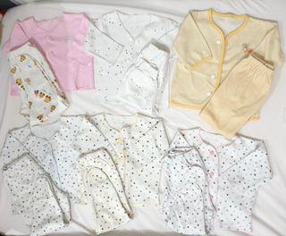 Baju bayi 0-3 bulan (lengan panjang) motif cewek
