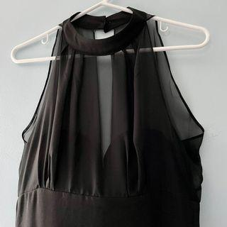 BNWT - black halter neck dress