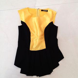 Black yellow top
