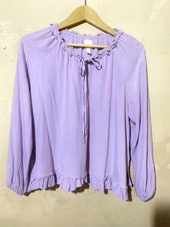 Blouse HnM oversize lilac