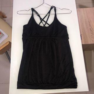 Cotton On Active (AUTHENTIC) Black Baju Olahraga Sleeveless