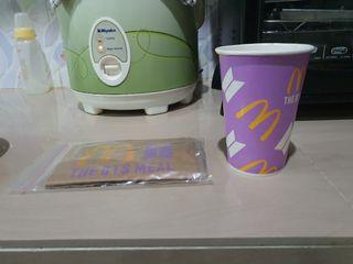 Cup dan paperbag mcd x bts meal