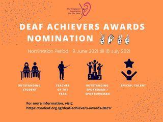 Deaf Achievers award 2021