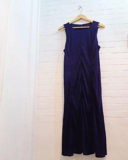 Dress Sleeveless Banana Republic Blue (not zara uniqlo h&m mango gap)