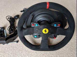 Free Next day Delivery PS5 PS4 PS3 PC Thrustmaster T300 with Ferrari Alacantra Wheel  with standard pedal tag logitech g29