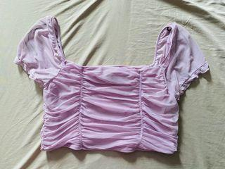 H&M mesh draped top