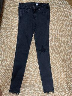H&M tattered Skinny Low waist  Jeans 28 to 29 inch waist