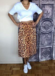 Kate Spade Cheetah Print Jean Skirt NEW