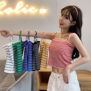 Korean Rainbow Knit Crop Tanktop
