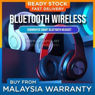 ⭐LOCAL STOCK⭐B39 Wireless Headset Bluetooth 5.0 Colorful LED Bass Stereo Wireless Headphones Alat Dengar Fon Kepala