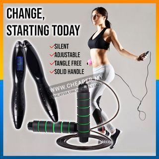 ⭐LOCAL STOCK⭐Electronic Digital Jump Rope Counting Calorie Fitness Sport Light-Weight Excercise Skipping Ropes Workout