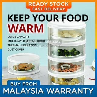 ⭐LOCAL STOCK⭐Keep Your Food Warm! New Sliding Door Food Cover Home Kitchen Transparent Stackable Food Insulation Cover