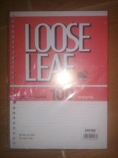 Loose leaf kertas binder ukuran b5