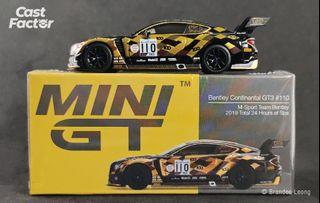 Mini GT #199 Bentley Continental GT3 #110 M-Sport Team Bentley 2019 Total 24 Hours of Spa