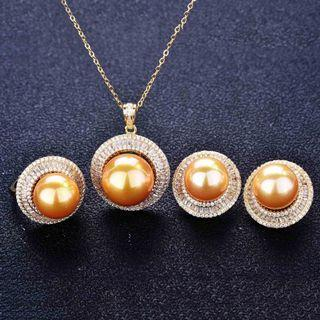 Necklace earrings ring set