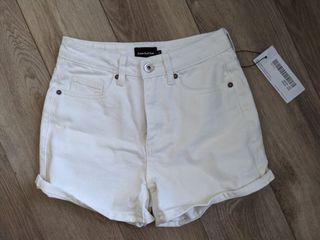 NWT Frank and Oak white denim shorts - high waisted