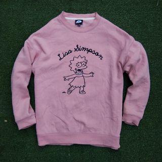 Official Lisa The Simpsons Crewneck Sweater Pink Gemoy Lucu  Original Ori Sweatshirt Oversize Simpson Korean Style