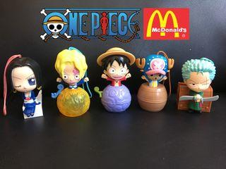 one piece x mcdo happy meal toys bundle