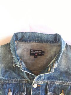 Polo Ralph Lauren Laurent Women Jeans Denim Jacket Jaket Trucker non Selvedge Second Preloved Bekas Thrift