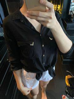 Pull and bear black shirt