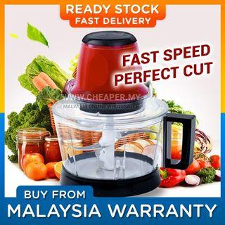 ⭐READY STOCK⭐3L Powerful Stainless Steel Electric Mixer Food Chopper Pencincang Makanan Meat Grinder Pengisar Machine