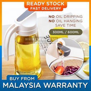 ⭐READY STOCK⭐Flip Cover Glass Oil Minyak Bottle Cooking Dispenser Storage Bottle Botol Seasoning Sauce Vinegar Liquid